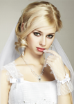 blonde wedding hair updo