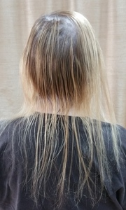 Micro tape extensions for thin hair