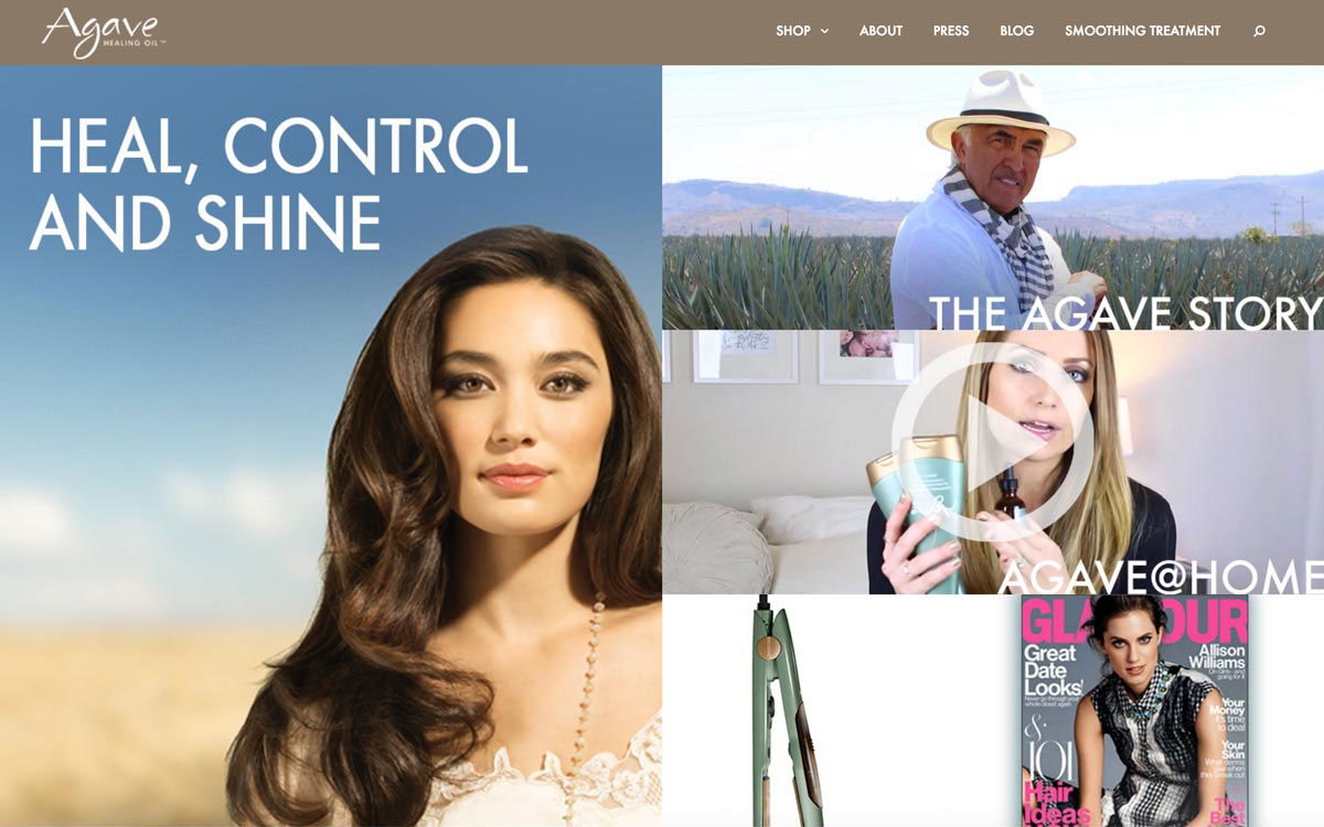 salon web design example